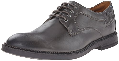 Clarks Bushwick Dale Oxford Grey Leather