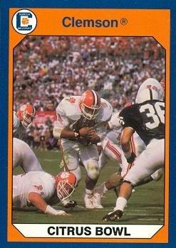 Autograph Warehouse 96912 Citrus Bowl, Clemson Beats Penn State Football Card Clemson 1990 Collegiate Collection No. 116 -