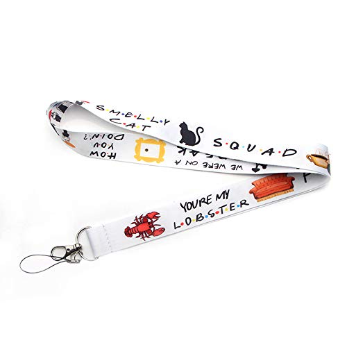 Friends Tv Show Chain Necklace   Badge Id/Mobile Phone Rope/Key Lanyard Neck Straps Accessories ()