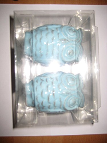 Mainstays Slate Blue Ceramic Owl Salt & Pepper ()