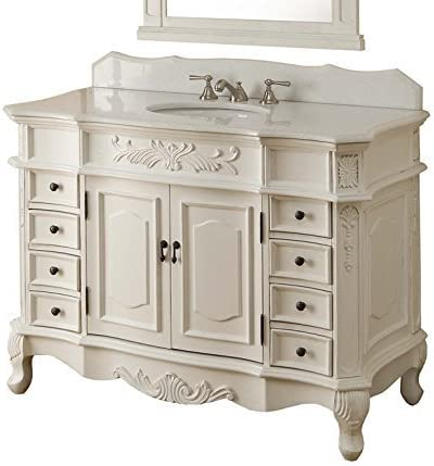 42 Traditional Style Antique White Morton Bathroom sink vanity Model CF-2815W-AW-42