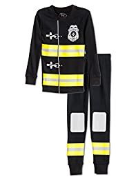 Sara's Prints Boys Fire Chief 2 Piece Pajama Set, Kids Size 4