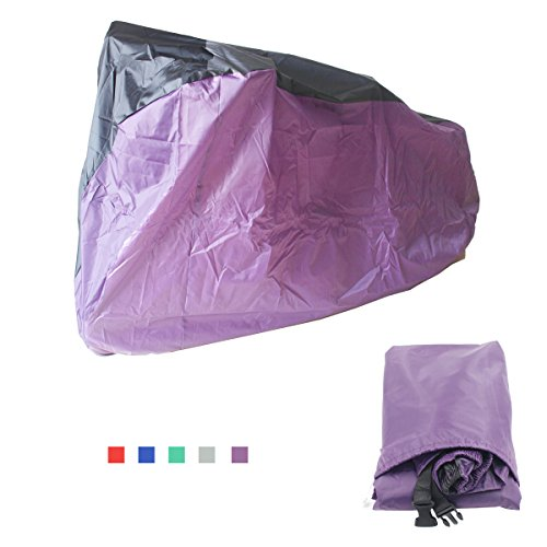 Top-Spring Large Bike Cover 2 Layer Waterproof Outdoor Tear Resistant Windproof Bicycle Cover for Mountain Bike, Road Bike, City Bike, Beach Cruiser Bike with Windproof Buckle Strap, Sun Dust Proof