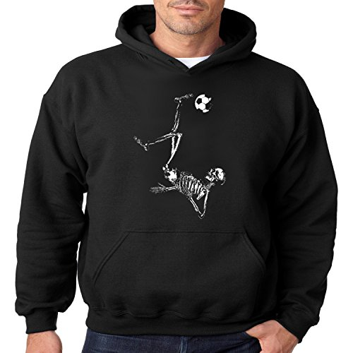 Juiceclouds | Soccer Skeleton Hoodie Mens S-3XL (Black, M) -