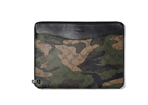 COACH Tech Case In Signature Camo Coated Canvas Dark Green Camo by Coach
