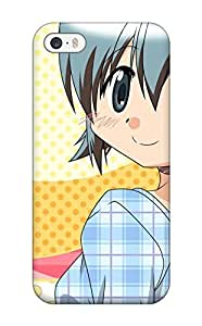 New Fashion Premium Tpu Case Cover For Iphone 5/5s - Cute Girl With Blue Hair