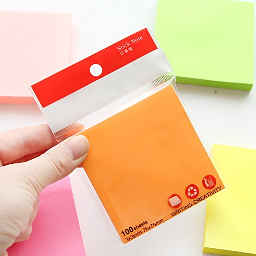 5 pcs/Lot Macaron color sticky note set Mini post adhesive paper memo it tag Stationery Office accessories School