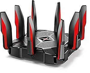 TP-Link AC5400 Tri Band Gaming Router – MU-MIMO, 1.8GHz Quad-Core 64-bit CPU, Game First Priority, Link Aggregation, 16GB Storage