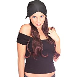 Rubie's Pirate Lass Wig Black Cap, Brown, One Size