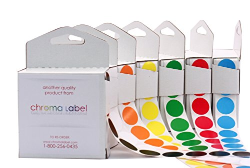 """3/4"""" Assorted Color-Code Sticker Dot Variety Kit 