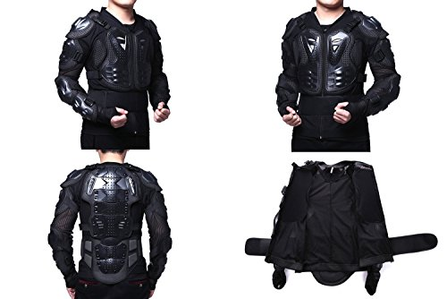 Motorcycle Full Body Armor Protector Pro Street Motocross ATV Guard Shirt Jacket with Back Protection Black 3XL by OHMOTOR (Image #6)