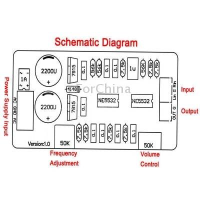 Dual Ne5532 Subwoofer Processing Circuit Low Pass Amazon In