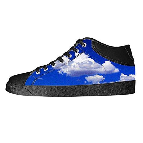 Dalliy Blaue Wolken Mens Canvas shoes Schuhe Lace-up High-top Sneakers Segeltuchschuhe Leinwand-Schuh-Turnschuhe E