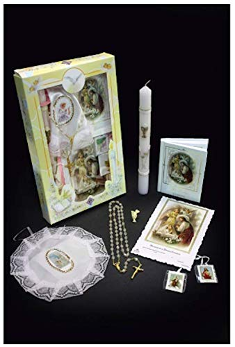 First Holy Communion Girls Gift Set - Candle Remembrance Card Prayer Book Keepsake Gift