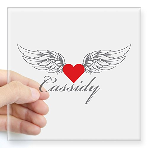 - CafePress Angel Wings Cassidy Sticker Square Bumper Sticker Car Decal, 3