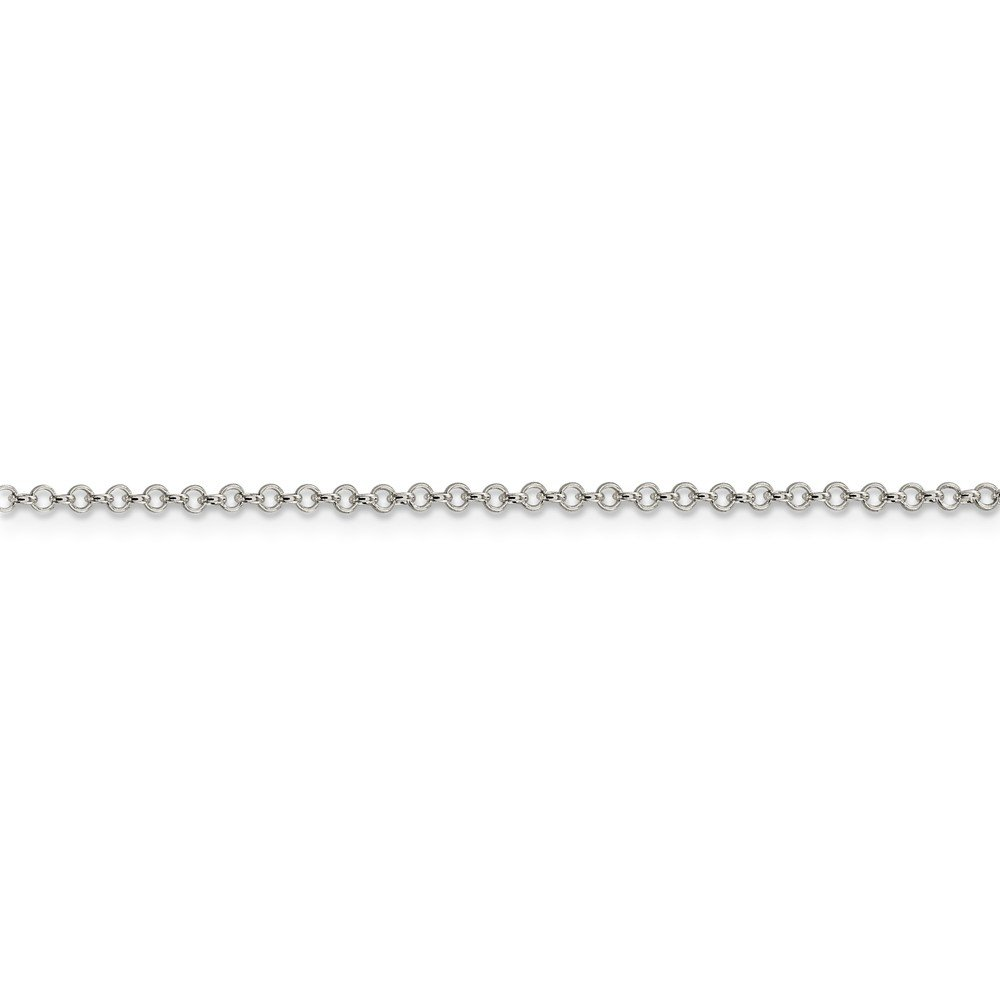 925 Sterling Silver 2mm Rolo Chain
