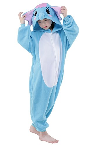 Newsiamese Kids Halloween Elephant Cosplay Pajama Unisex Children Costume (115(suitable for 51.2-55.1 in. ), (Easy To Do Halloween Costumes For Boys)