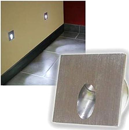 10x LED Foco Lámpara de pared rectangular LED empotrable Paso Escaleras lámpara Veranda poste 1 W Sótano Bombilla AC 100 – 245 V, blanco ,: Amazon.es: Bebé