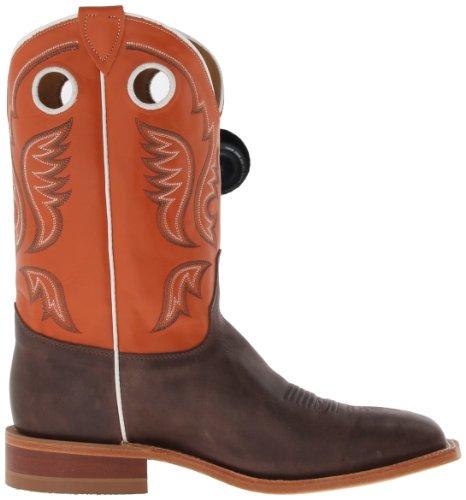 Justin Boots Botte Pour Homme Bent Rail Chocolat / Vache / Orange Clair