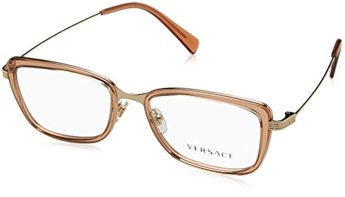 Eyeglasses Versace VE 1243 1401 PALE GOLD/BROWN - Gold Frames Men Versace For