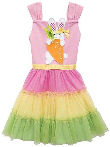 Color Block Easter Bunny Dress for Toddler Girls