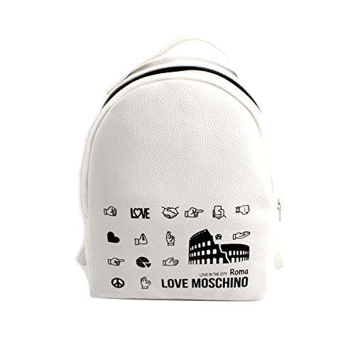 ZAINO LOVE MOSCHINO IN ECOPELLE MOD. CITY LOVERS BACKPACK ROMA COLORE BIANCO DONNA BS19MO75