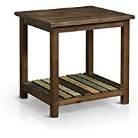 HOMES: Inside + Out IDF-4445E James End Table, Brown Cherry
