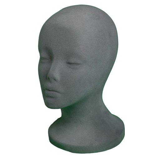 A1Pacific 11 GREY Velvet like STYROFOAM FOAM MANNEQUIN MANIKIN head wig display hat glasses (1 PC)