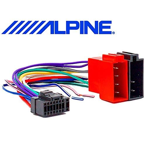 Iso Beam Cable Adapter Car Radio Alpine 16 Pin Connector.:
