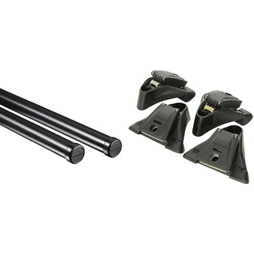 "58"" Yakima Roof Rack Round Crossbars and Yakima Q Towers for Yakima Roof Rack System (Set of 4) Bundle"