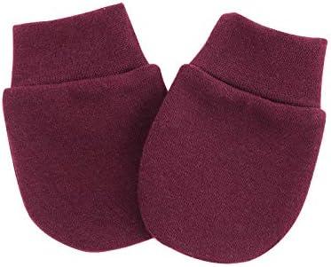 Whteian Newborn Infant Baby Girls Mittens Cotton Gloves No Scratch for 0-10 Months Unisex Baby Boys Girls 8-Pairs