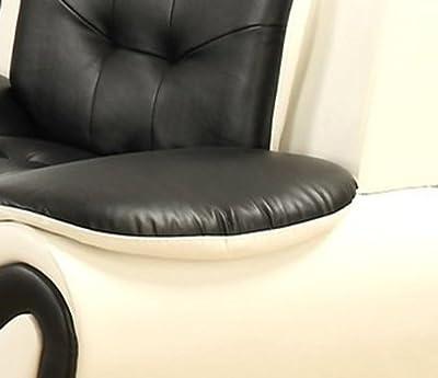 US Pride Furniture S5067-2PC 2 Piece Modern Bonded Leather Sofa Set, White/Black
