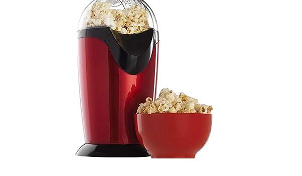 Palomitero Vintage, máquina de hacer palomitas de aire profesional Retro Cinema Popper, sin grasa ni aceite y sin BPA: Amazon.es: Hogar