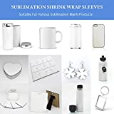 Sublimation Shrink Wrap Sleeves,5x10 Inch White