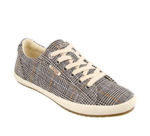 Taos Footwear Women's Star Black Plaid Sneaker 9 M US