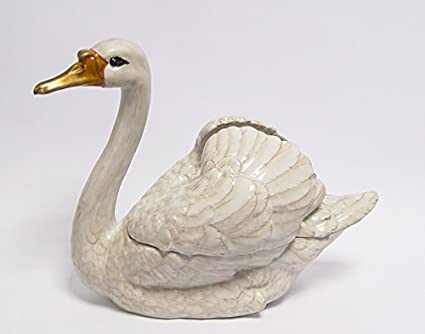 Bronze Swan Design Length 32 5 Cm Decorative Bowl Soup Bowl Porcelain 3 5kg Amazon Co Uk Kitchen Home