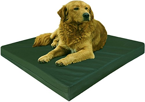Dogbed4less Gel Cooling Memory Foam Dog Bed with Durable Washable Canvas Cover and Waterproof Internal Liner + Extra 2nd Replacement Case, XL 40