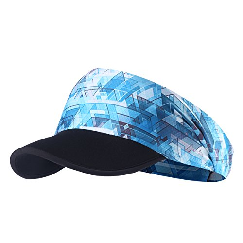 - Qinglonglin Sun Visors for Women - Yoga Headband Outdoor Peaked Golf Cap Headwear Visor Hat Race Gear UV Protection for Men & Women Breathable & Moisture Wicking