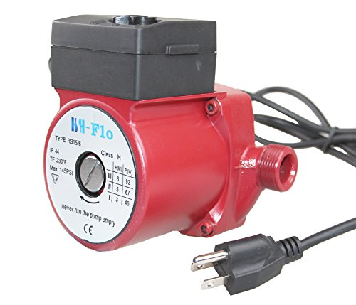 HSH-Flo 3/4'' Circulator Pump 115V Hot Water Circulation Pump For Solar Heater System Low Flo Heater