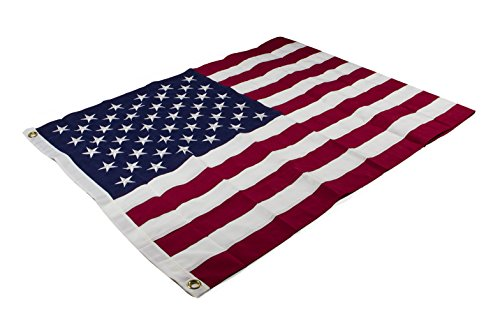 Aro Lora American US Flag - 3 X 5 Ft Embroidered Stars Sewn