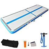 AIRMAT FACTORY Airtrack Gymnastics Mat – 10ft/3.3ft Inflatable Air Track Tumbling Mat with Air Pump for Yoga, Gym and Home Use, Air Block Tumble Track for Tumbling, Cheerleading