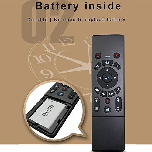 Android TV Box//Smart TV Multi-Media Devices JINYANG Helpful T6 Air Mouse 2.4GHz Wireless Keyboard Remote Controller with Touchpad /& IR Learning for PC