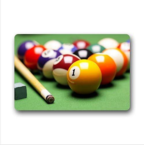 pool doormats Classic Colorido patrón de Billar, Mesa de Billar ...
