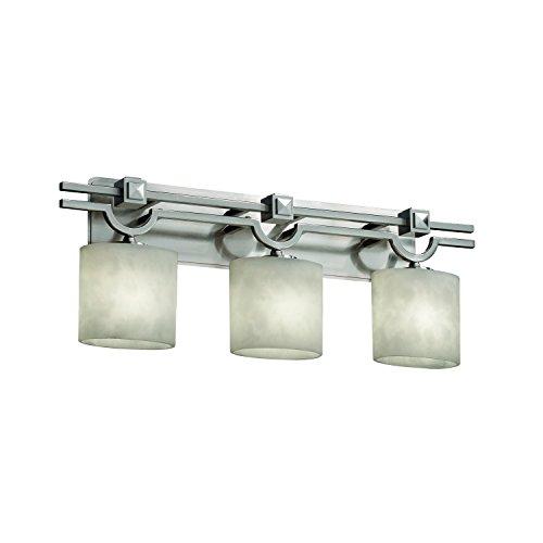 Justice Design Group CLD-8503-30-DBRZ Clouds Collection Argyle 3-Light Bath Bar Light Fixture