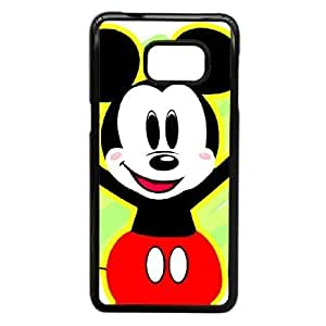 Durable Rubber Cover Samsung Galaxy S6 Edge Plus Cell Phone Case Black Bauwx Mickey Mouse Special Design Case