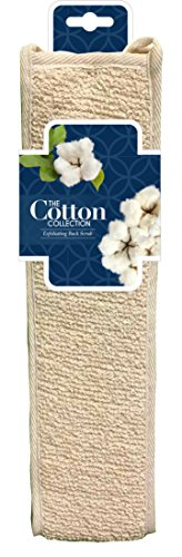The Cotton Collection Exfoliating Back Scrub - Deep Exfoliating Cotton  Back Scrub - Natural Materials Infused - Nourish Your Skin and Cleanse (Collection Cotton Cloth)