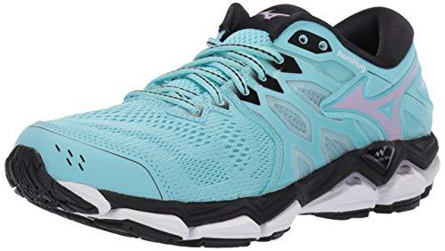 Mizuno Women's Wave Horizon 3 Running Shoe, Angel Blue-Lavender Frost 7.5 B US