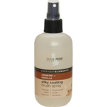 Everyday Isle of Dogs Silky Coating Dog Brush Spray Jasmine Vanilla, 8.4 Ounce