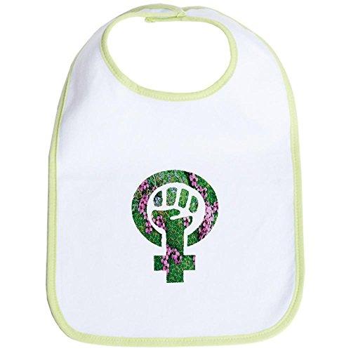 CafePress Earth Feminist Symbol Bib - Standard Kiwi