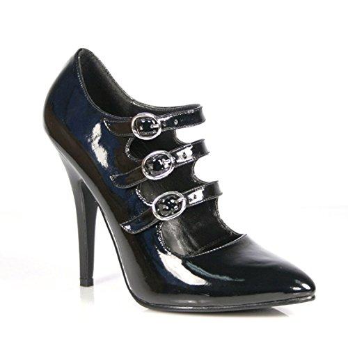 Zapatos Lack vestir mujer Heels negro material Schwarz negro de de Perfect negro para Schwarz sintético HwCTqxAC